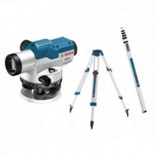 Оптичен нивелир Bosch GOL 26 G+BT 160 + GR 500