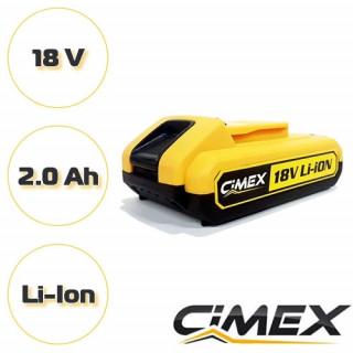 Акумулаторна батерия за CIMEX CD18V58NM Li-ion 18V, 2.0 Ah