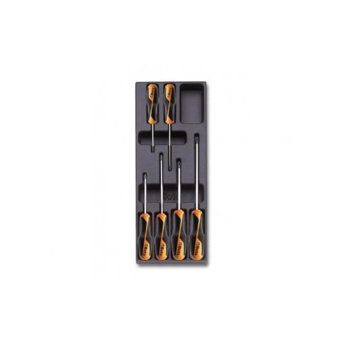Комплект отвертки в пластмасова тава 6 броя T202-6 Beta Tools