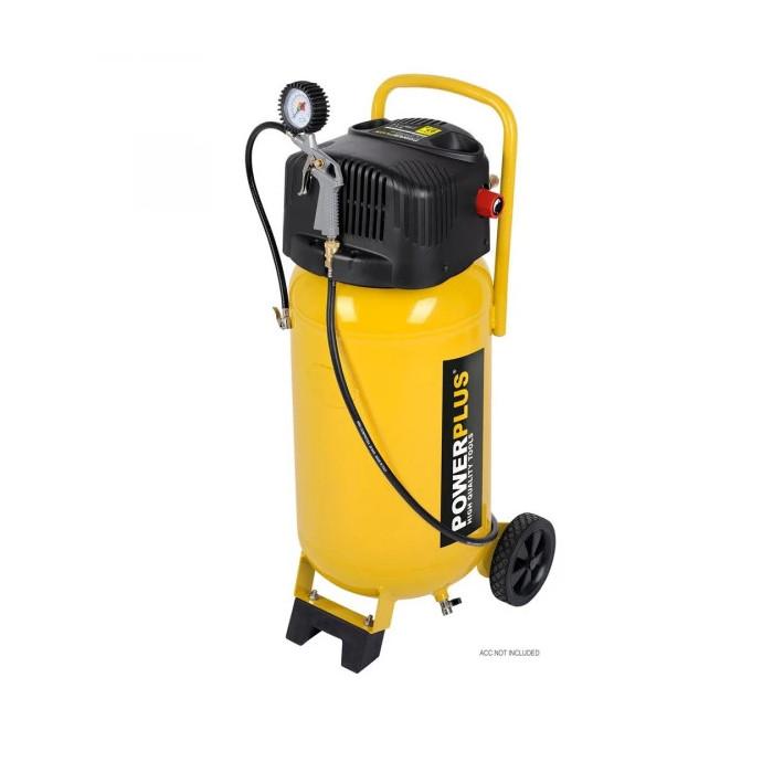 Безмаслен компресор POWER PLUS POWX1750 / 1.5kW, 50 L, 10 bar