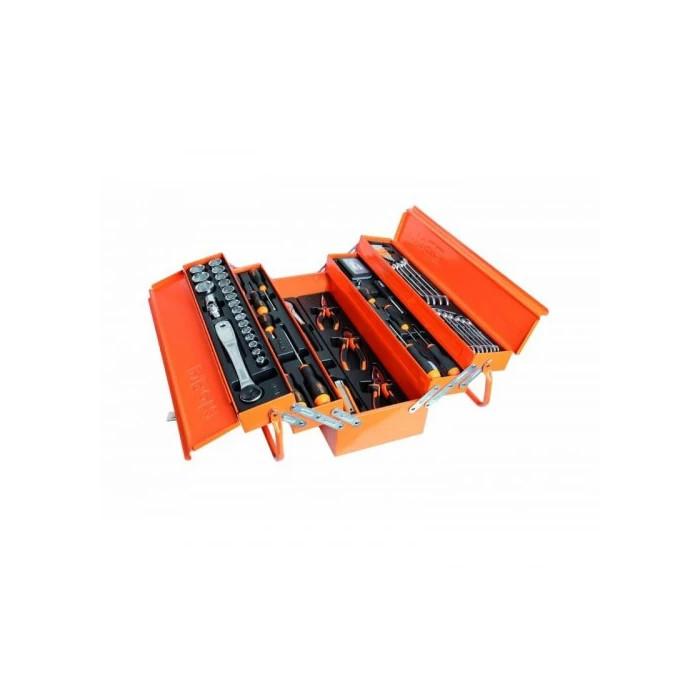 Сандък за инструменти с комплект Beta Tools 2120L-E/T