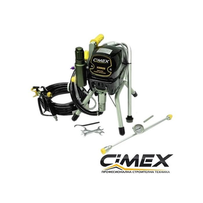 Машина за безвъздушно боядисване CIMEX AIRLESS X390S - 227 bar