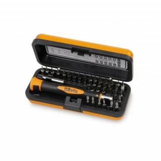 К-т микро-отвертка с Bi-material дръжка битове Beta Tools 1256/C