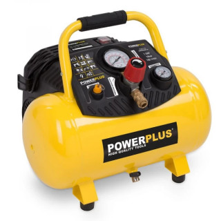 Безмаслен компресор POWER PLUS POWX1723 / 1.1kW, 12 L, 10 bar