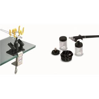 Аерограф комплект за боядисване и стойка GAV