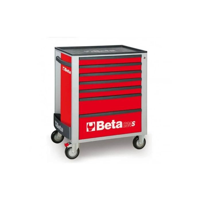 Количка за инструменти BETA 7 чекмеджета 295 бр.инстр. червен