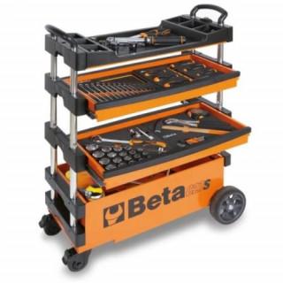 Сгъваема количка за инструменти оранжев цвят Beta Tools C27 S