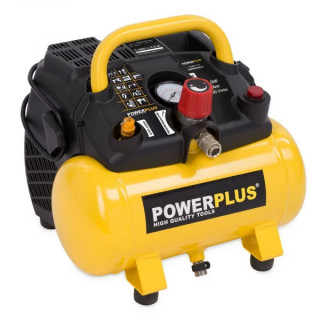 Безмаслен компресор POWER PLUS POWX1721 / 1.1kW, 6L, 8bar