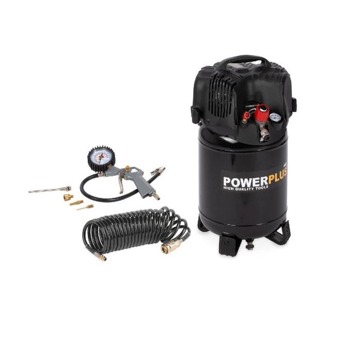 Безмаслен компресор POWER PLUS POWX1731 / 1.1 kW, 24 L, 8 bar