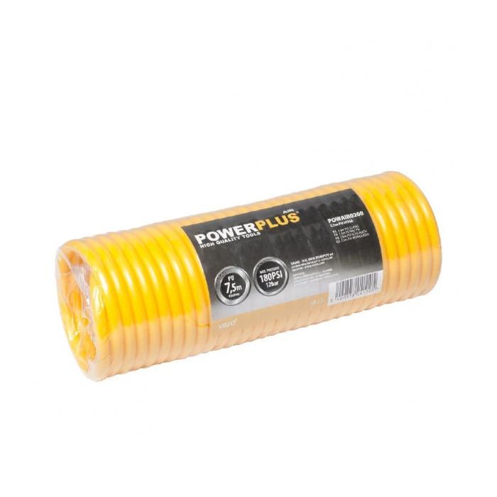 Спираловиден маркуч за въздух 7.5 м POWER PLUS POWAIR0200