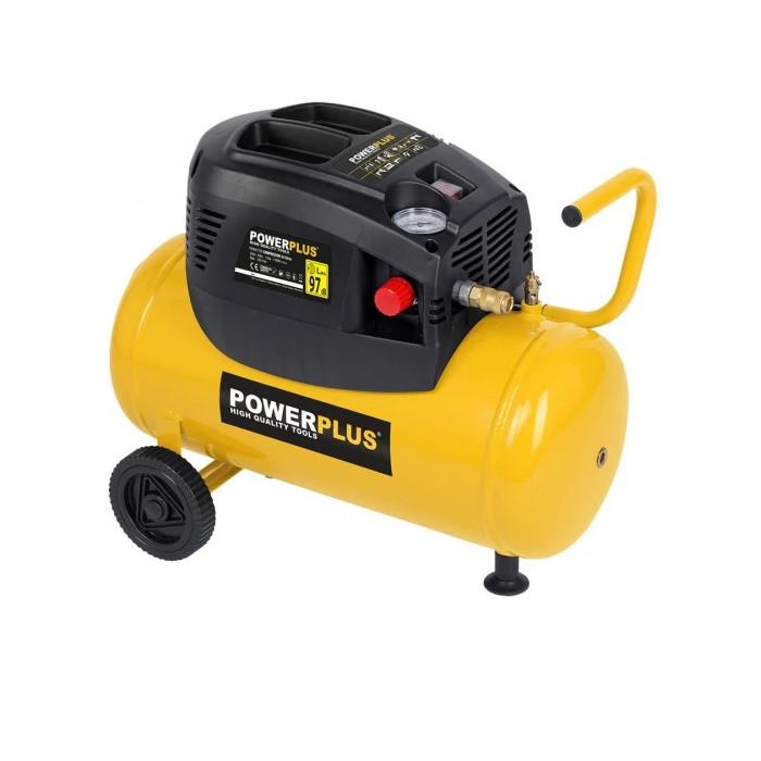 Безмаслен компресор POWER PLUS POWX1725 / 1.1 kW, 24 L, 8 bar