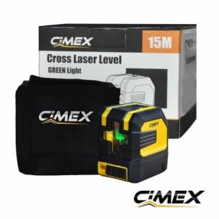 Лазерен нивелир със зелен лъч и кръстосани линии CIMEX 1H1V-G
