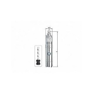 Винтова сондажна помпа ELECTROMASH 4 QGD 1,2-100-0,75