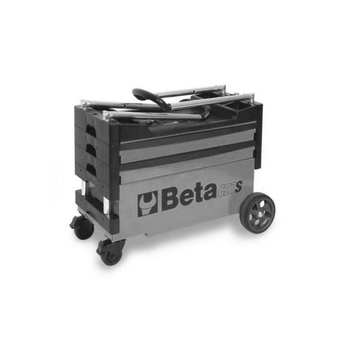 Сгъваема количка за инструменти сив цвят Beta Tools C27 G