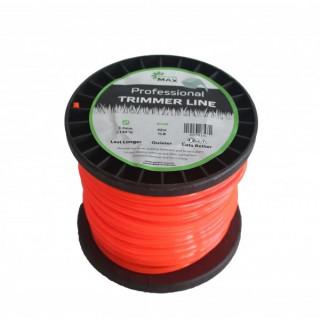 Тримерна корда GardenMAX 3.3mmx10LB 420m (квадрат - макара)