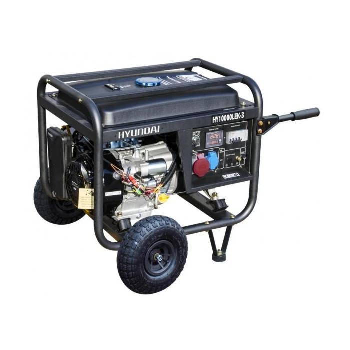 Бензинов трифазен генератор Hyundai HY 10000 LEK/T