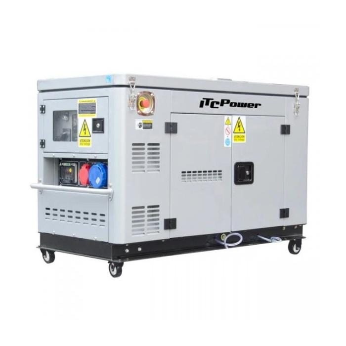 Дизелов трифазен генератор Hyundai DG 12000XSE/T