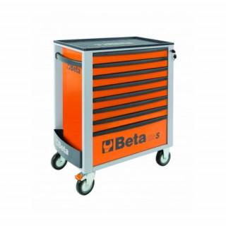 Количка за инструменти BETA 8 чекмеджета комплект 384бр оранжев