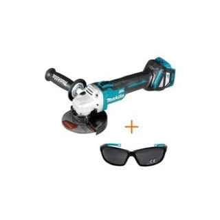 Ъглошлайф акумулаторен безчетков Makita DGA511Z + очила Makita