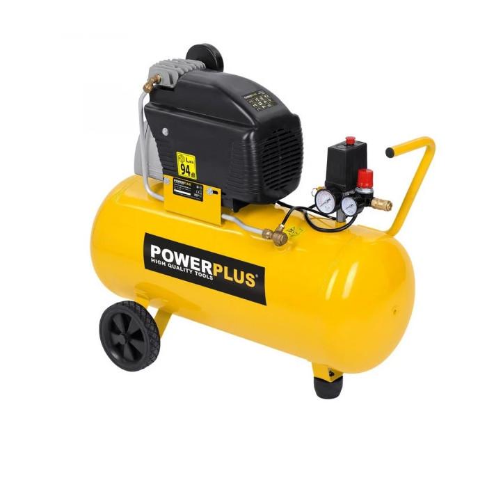 Компресор POWER PLUS POWX1760 / 1.5kW, 50 L, 10 bar