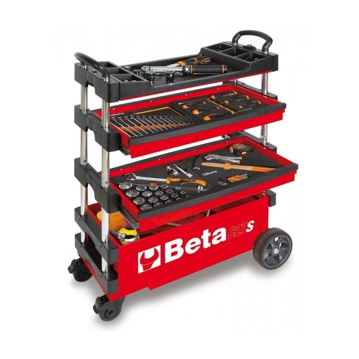 Сгъваема количка за инструменти червен цвят Beta Tools C27 R