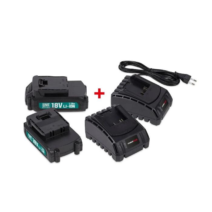 Стартов комплект POWER PLUS POWEB9090 / 2x 18V Li-Ion 1.5Ah