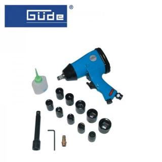 Комплект пневматичен гайковерт с вложки и аксесоари GÜDE 40039