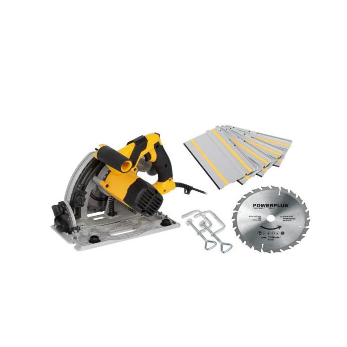 Ръчен циркуляр с потапяне POWER PLUS POWX0562 / 1200W, 165 mm
