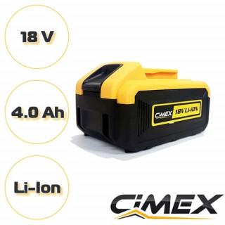 Акумулаторна батерия за винтоверт CIMEX CD18V62NM 18V , 4.0 Ah