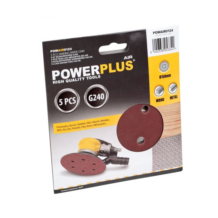 Шкурка за пневматични шлайфмашини POWER PLUS POWAIR0124