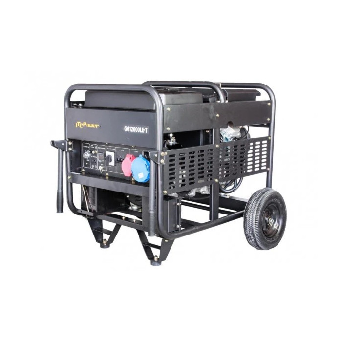Бензинов трифазен генератор с ел.стартер Hyundai GG 12000LE/T