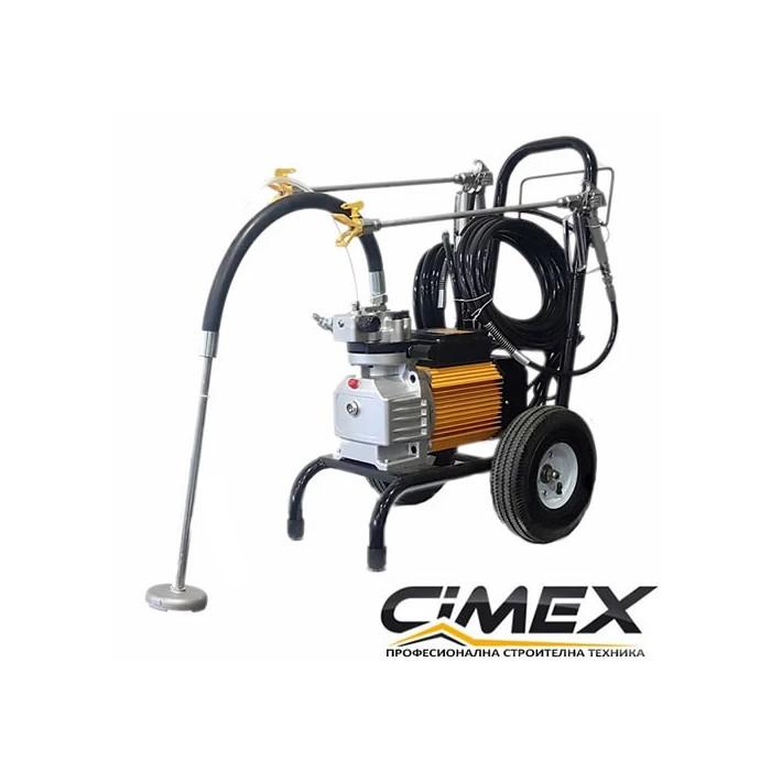 Машина за безвъздушно боядисване CIMEX X990 с мембранна помпа