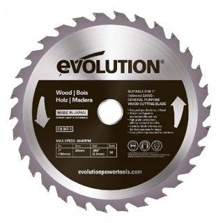 Диск за дърво EVOLUTION 180 мм