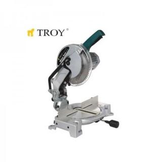 Циркуляр за ъглово рязане TROY 15255 / 1.6кW / ф255мм