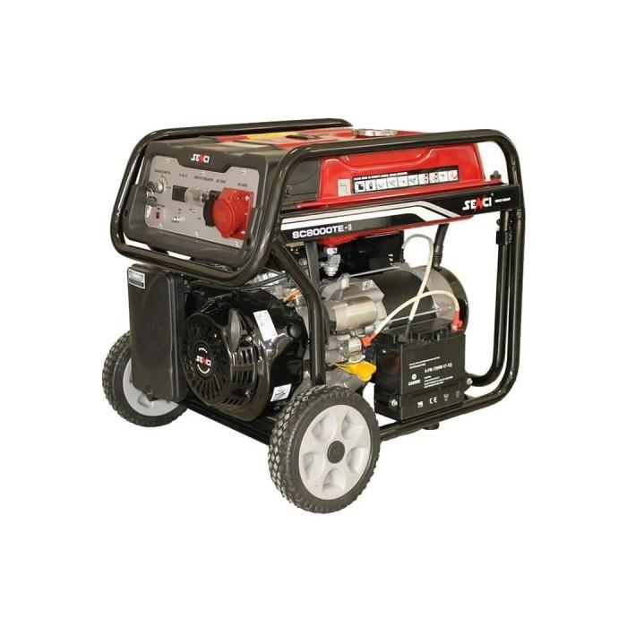 Бензинов генератор трифазен SENCI SC-8000TE 7.0kW, AVR