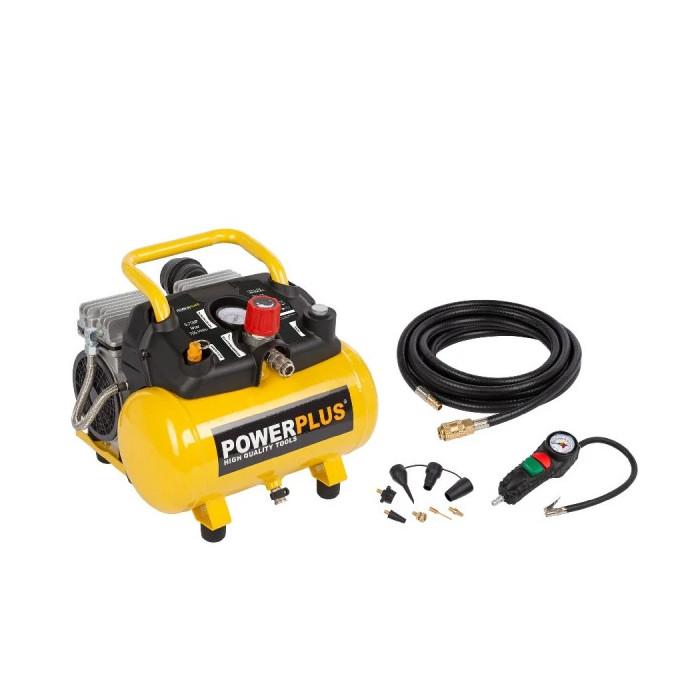 Безмаслен компресор POWER PLUS POWX1724S / 0.55 kW, 6 L, 8 bar