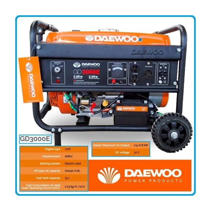 Бензинов генератор за ток Daewoo GD3000E 2.5 / 2.8 kW