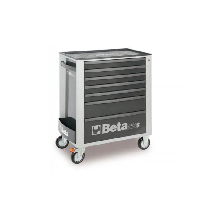 Количка за инструменти BETA 7 чекмеджета с комплект от 295бр сив