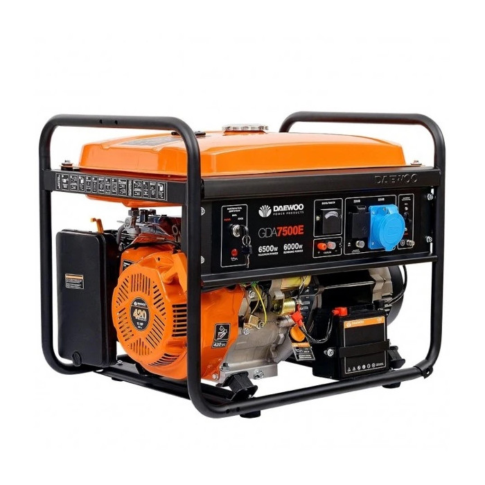 Бензинов генератор за ток Daewoo GDA7500E  6.0kW / 6.5kW