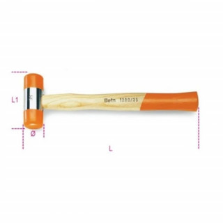 Чук с мека глава дървена дръжка 1390 28 - Beta Tools