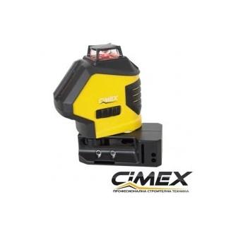 Самонивелиращ се линеен лазерен нивелир Cimex 4H1V (5 лъча)