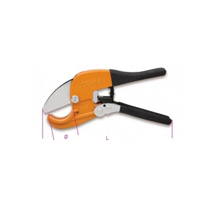 Ножица с тресчотка за пластмасови тръби 42мм Beta Tools 342